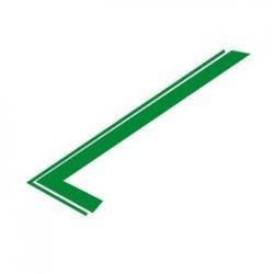 Juego pegatinas capó, verde
